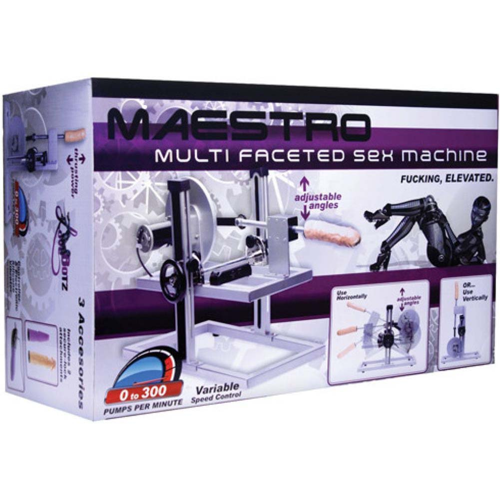 "Love Botz Maestro Fuk Sex Machine with 7"" Dildo and Anal Probe - View #2"