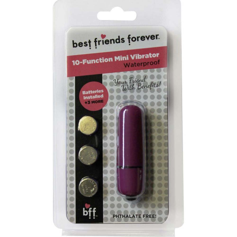 "SI Novelties BFF Friends with Benefits Waterproof Bullet Vibrator 2.4"" Purple - View #1"