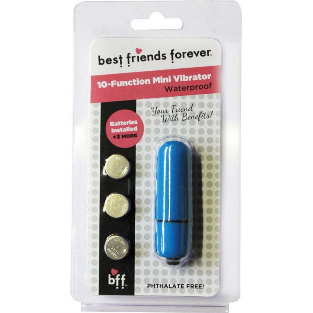 "SI Novelties BFF Friends with Benefits Waterproof Bullet Vibrator 2.4"" Blue - View #1"