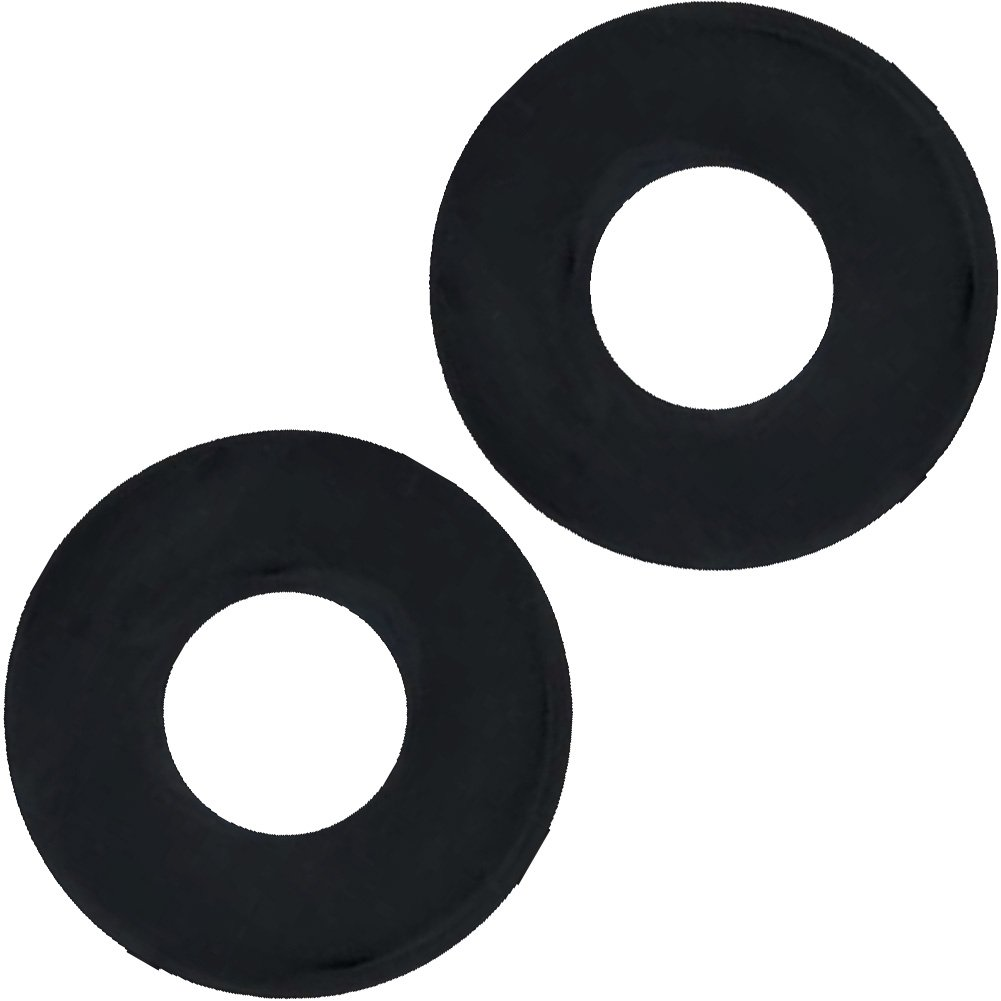 SI Novelties Ignite Thick Power Stretch Donut Cock Rings Pack of 2 Erection Rings Black - View #2