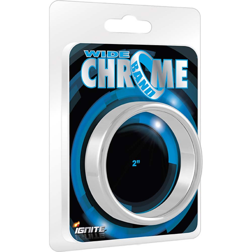 """SI Novelties Ignite Wide Chrome Band Cock Ring 2"""" - View #1"""