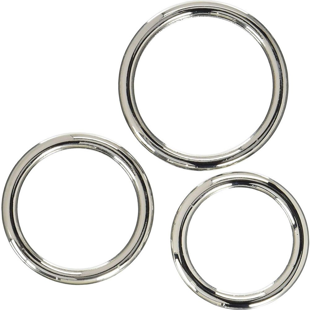 SI Novelties Seamless Metal Ring 3 Pack - View #2