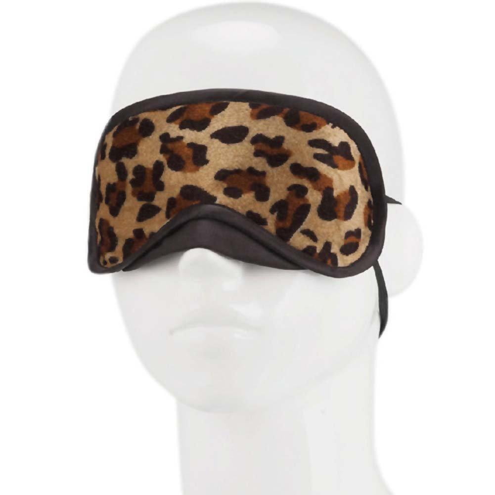 Lux Fetish Peek-A-Boo Love Mask Leopard - View #1