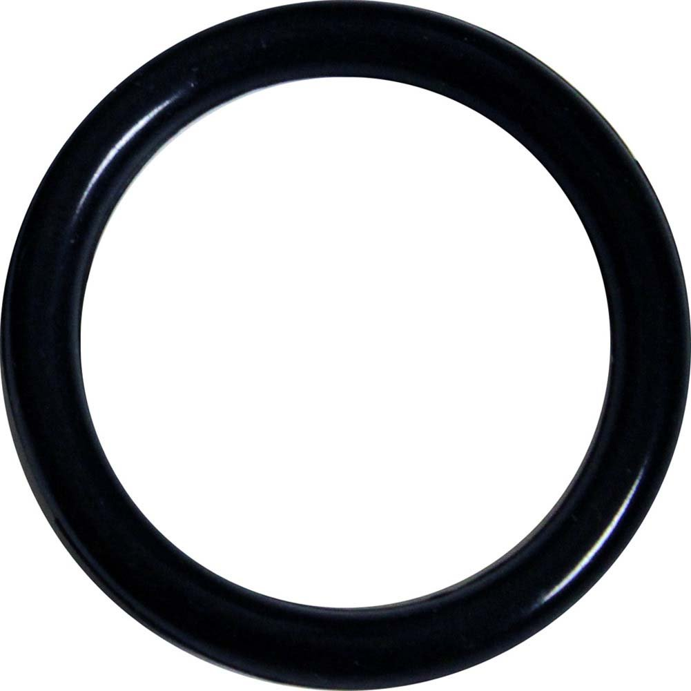 "SportSheets Black Rubber Cock Ring 1.7"" Black - View #1"