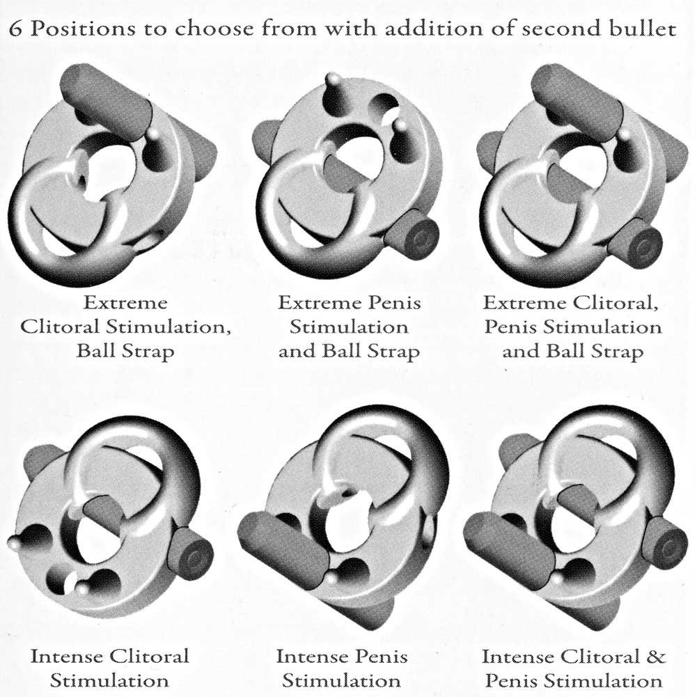 Crossbones Running Bull Single Bullet Vibrating Cockring Smoke - View #3
