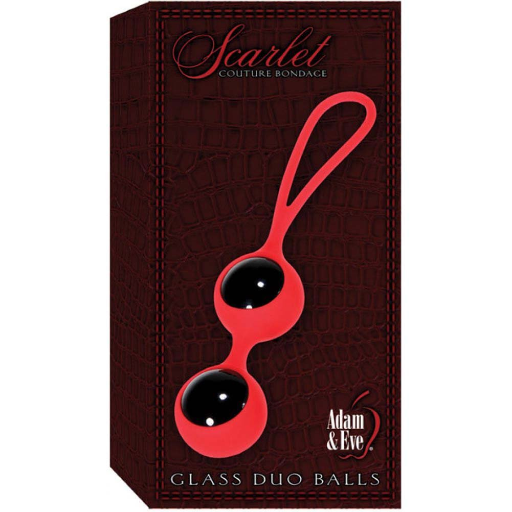 "Adam and Eve Scarlet Couture Glass Duo Balls 3"" - View #4"
