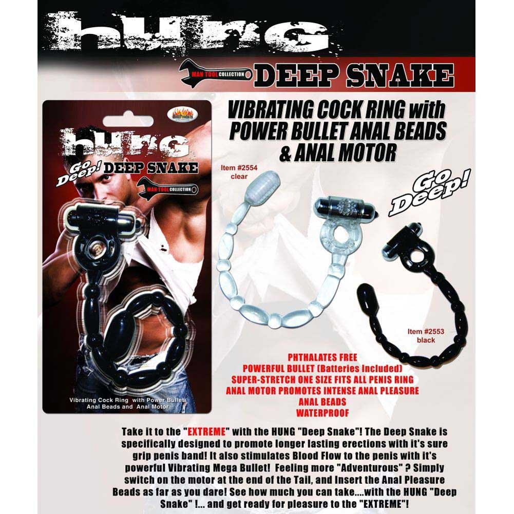 Hott Products Hung Anal Beads with Power Bullet Cock Ring Clear - View #3