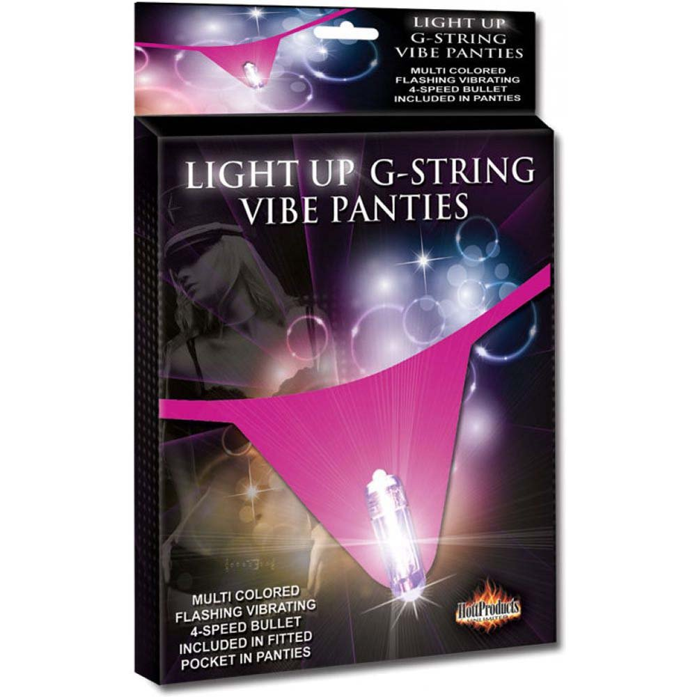 Hott Products Light Up G-String Vibrating Panties Hot Pink - View #1