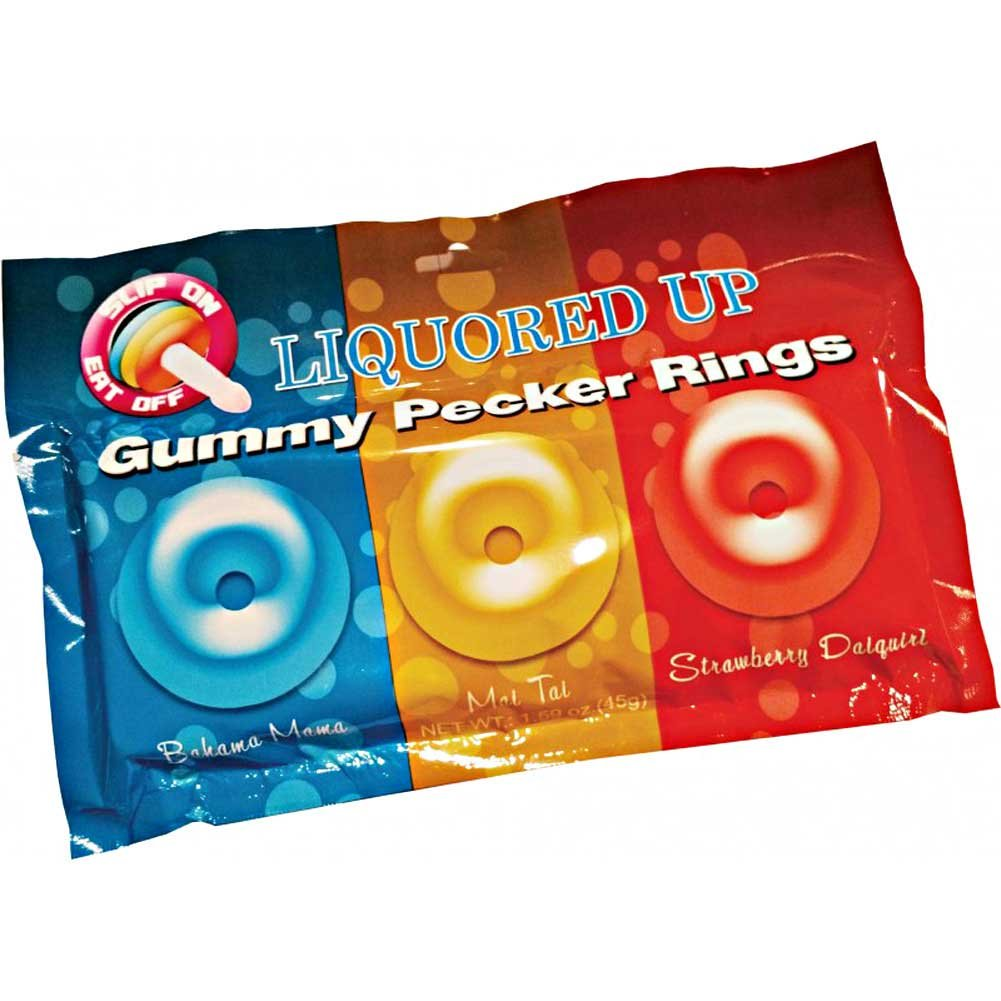 Hott Products Liquored Up Pecker Gummy Rings 3 Pack - View #1