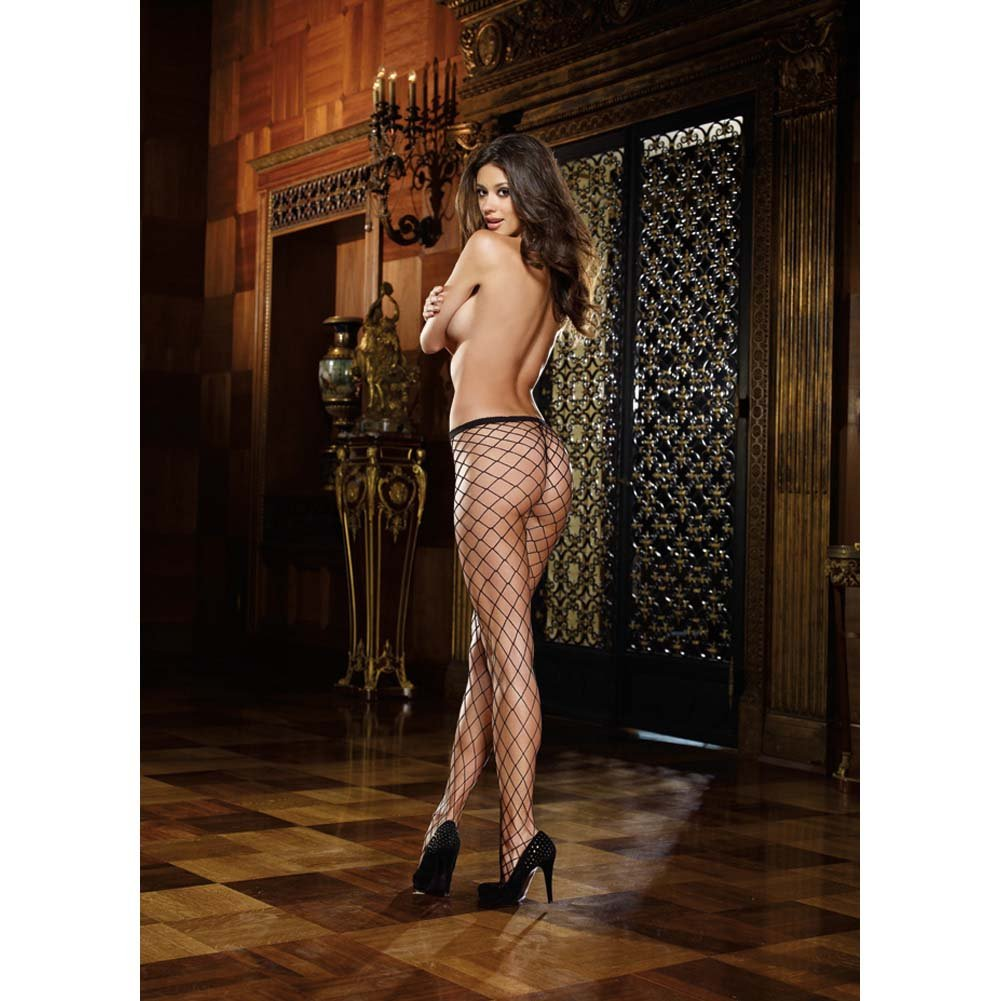 Dreamgirl Fence Net Odessa Pantyhose One Size Black - View #4