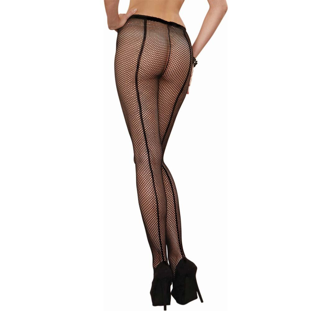 Dreamgirl Fence Net Barcalona Pantyhose One Size Black - View #1
