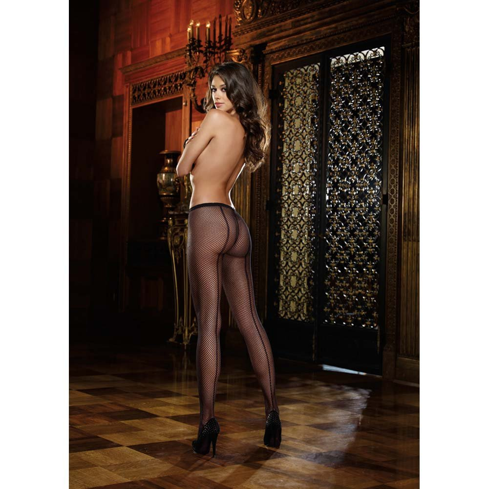 Dreamgirl Fence Net Barcalona Pantyhose One Size Black - View #3