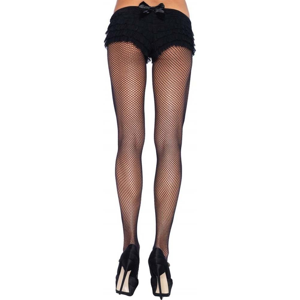 Leg Avenue Nylon Fishnet Pantyhose Queen Size Black - View #2