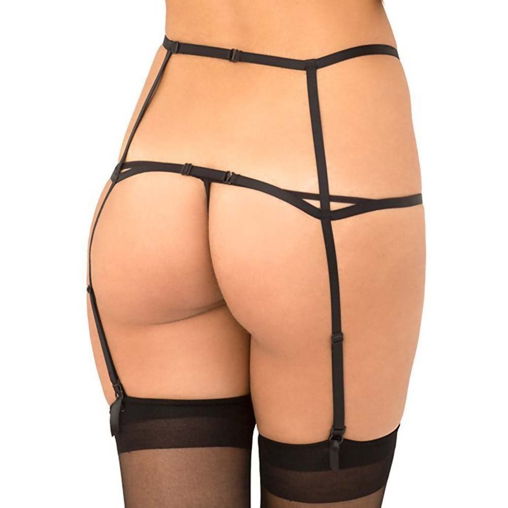 Rene Rofe WomanS Wide Open Cage Garter Medium/Large Black - View #2