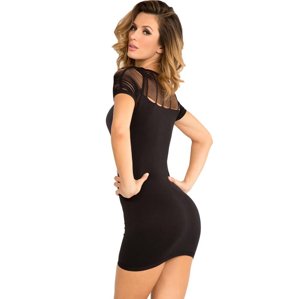 Rene Rofe Sexy Sophisticated Seamless Dress Medium/Large Black - View #2