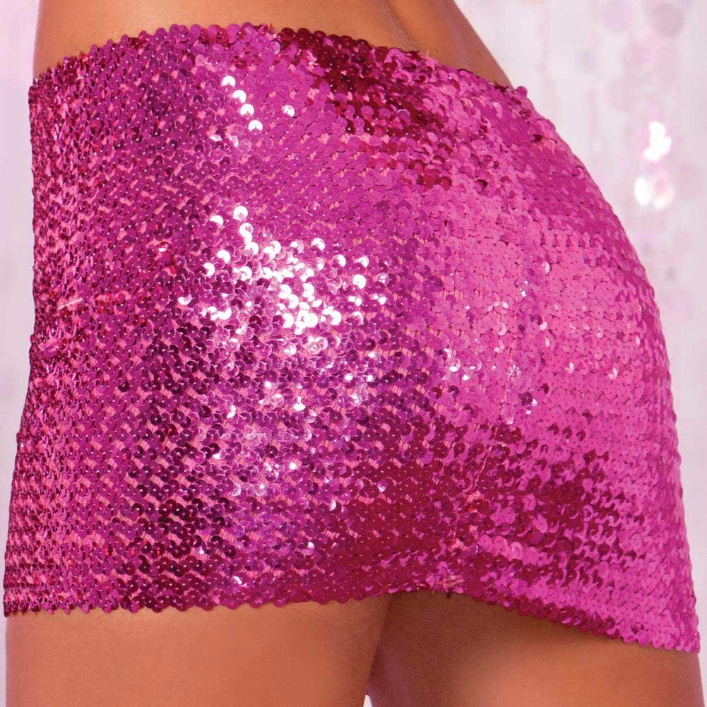 Pink Lipstick Sequin Tube Top or Tube Skirt Medium/Large Pink - View #4