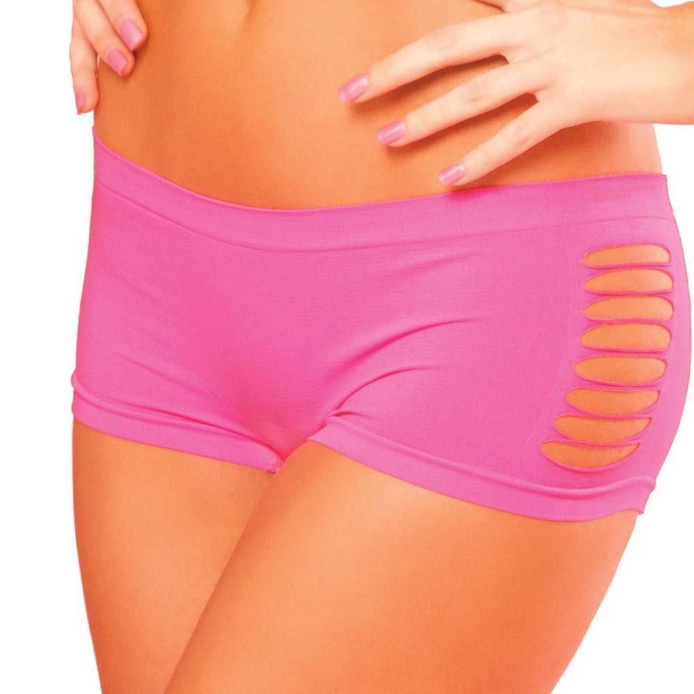 Pink Lipstick Sweat Pure Performance Side Slash Hot Shorts Medium/Large Pink - View #1
