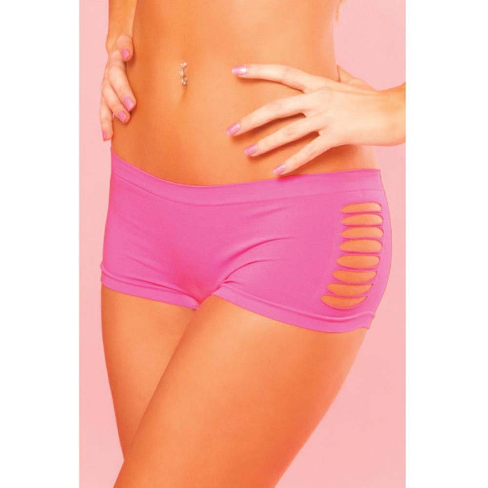 Pink Lipstick Sweat Pure Performance Side Slash Hot Shorts Medium/Large Pink - View #3