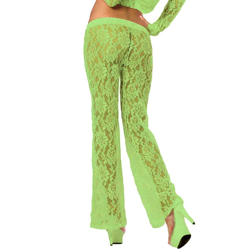 Pink Lipstick Loungewear Luxurious Lounge Pants Large Green - View #2