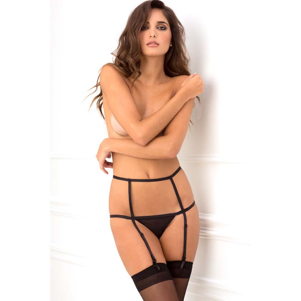 Rene Rofe Wide Open Cage Garter Small/Medium Black - View #3