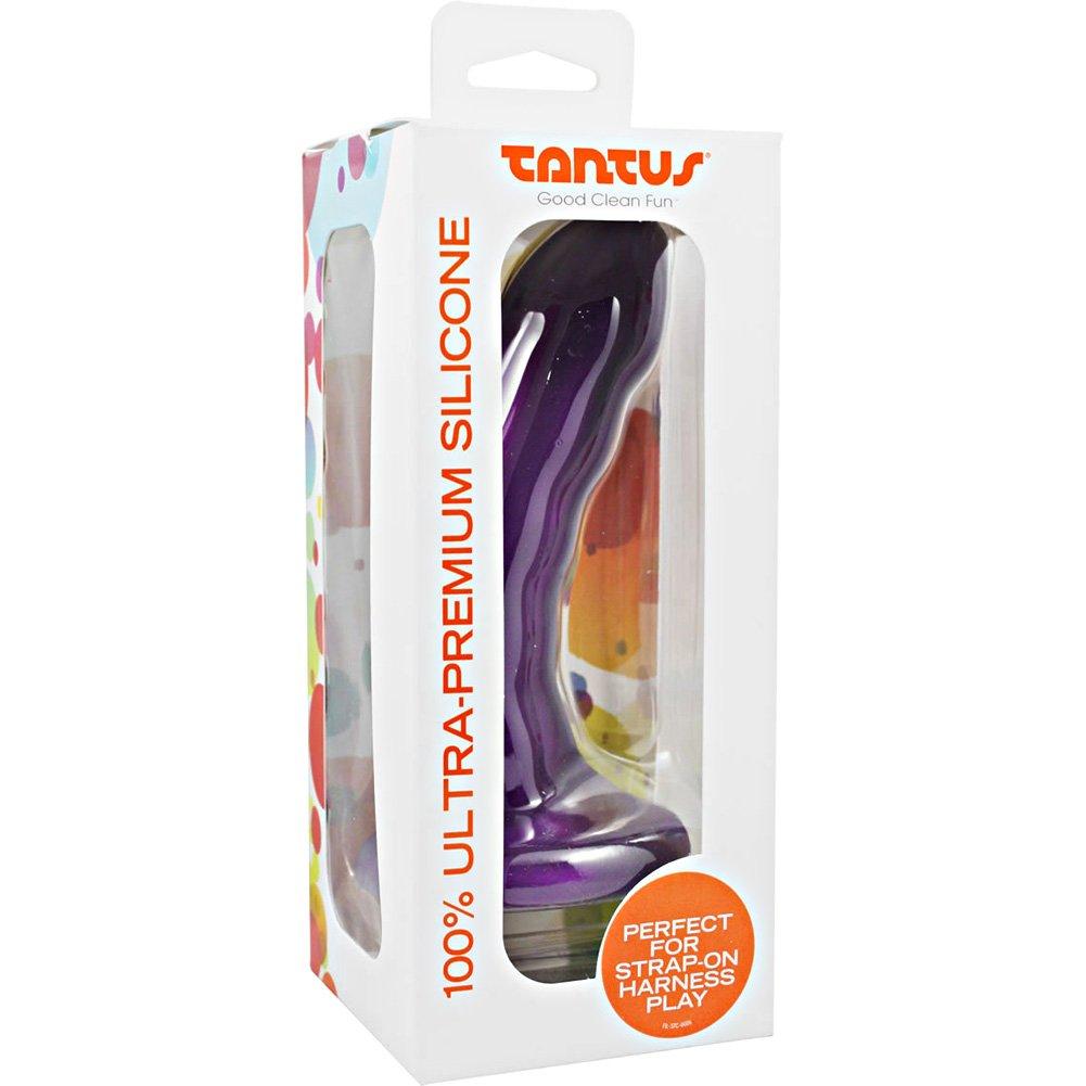 "Tantus Curve Silicone Dildo 6.5"" Purple - View #1"