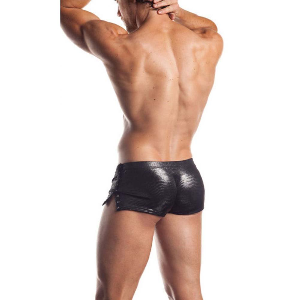 Fantasy Lingerie Excite Extreme Series Sleek Shorts with Snap Detail One Size Gunmetal - View #2