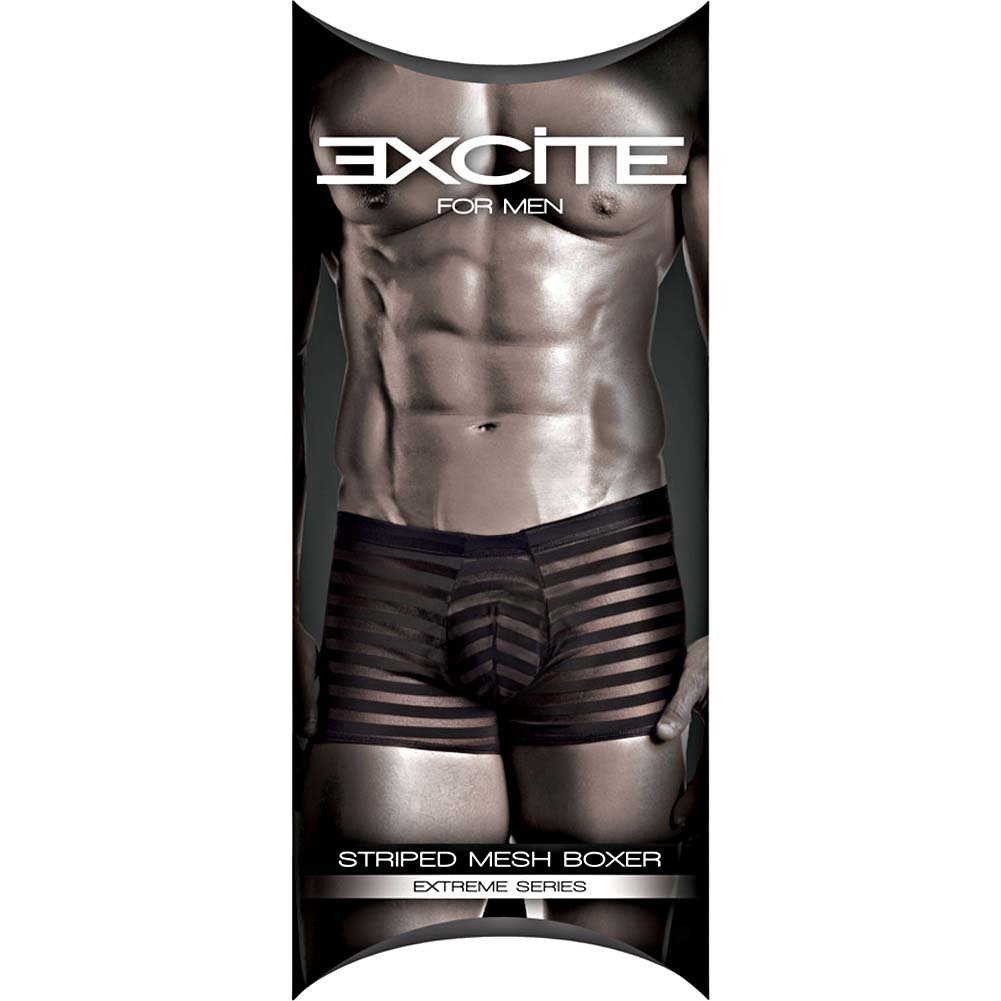 Joy Hollywood Excite Extreme Series Striped Mesh Boxer One Size Black - View #3