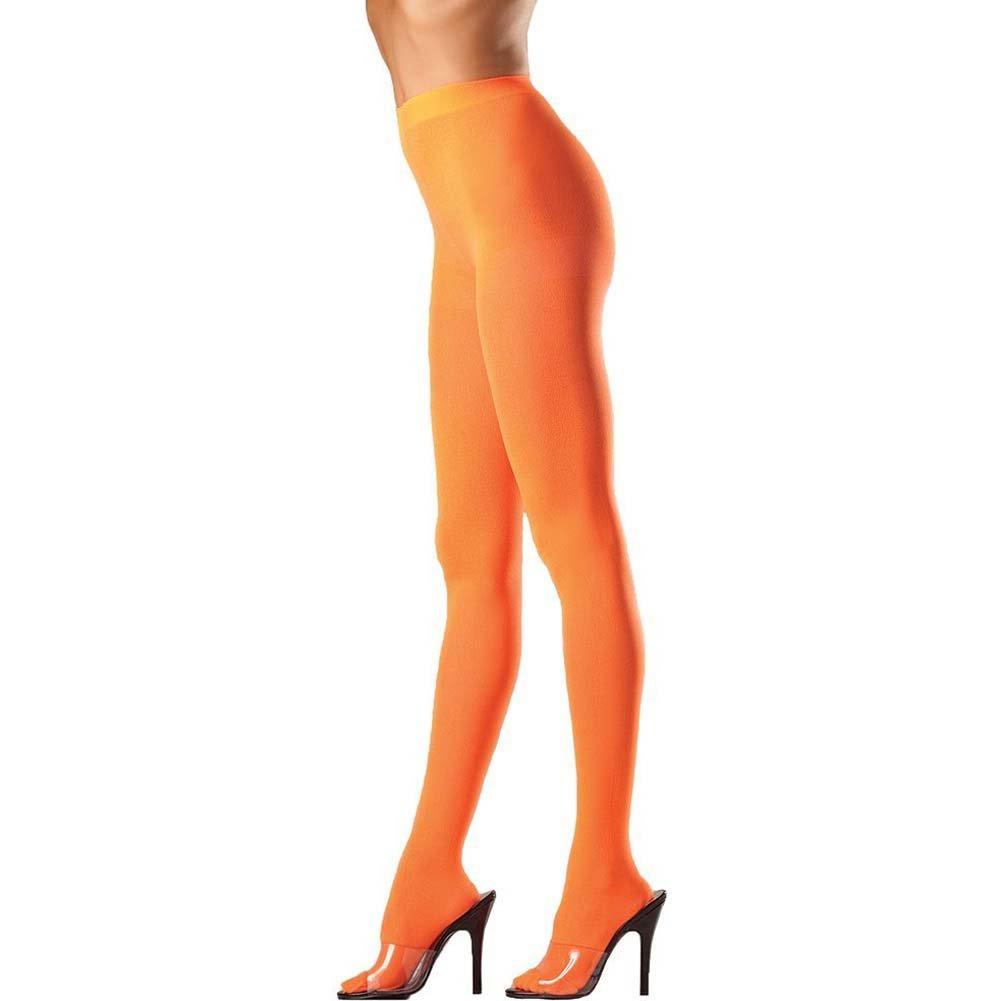 Opaque Nylon Pantyhose Orange O/S - View #1