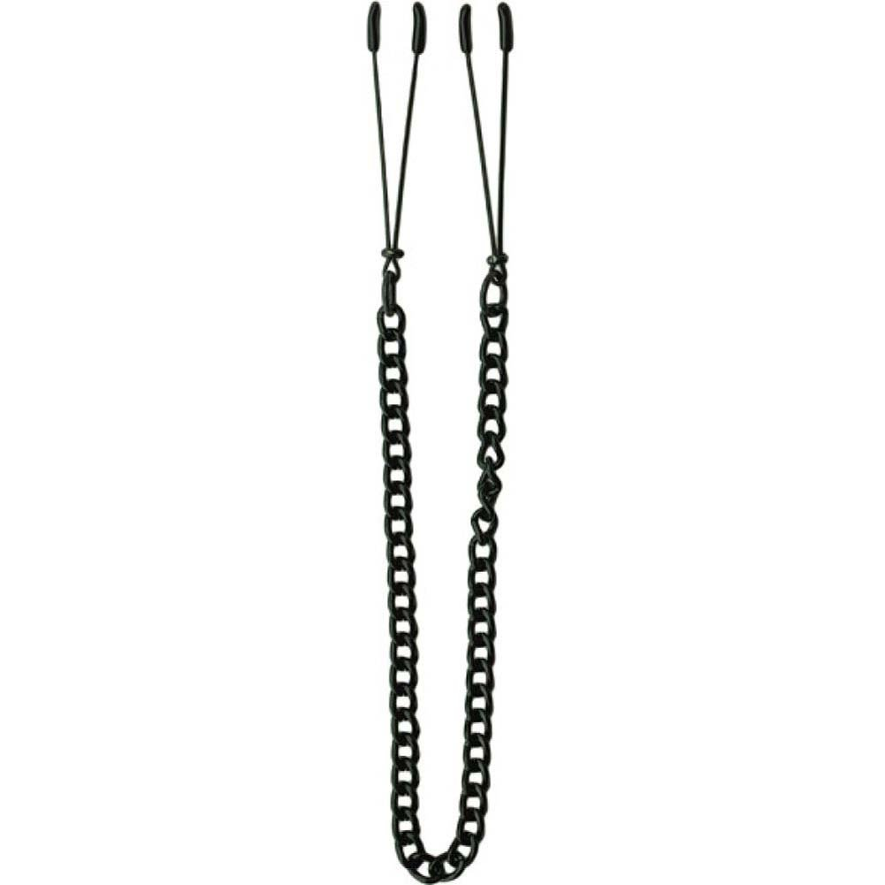 Spartacus Adjustable Chain Tweezer Nipple Clamps Black - View #2