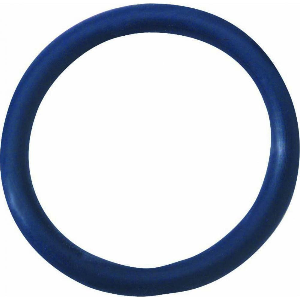 "Spartacus Rubber Cock Ring 1.5"" Blue - View #2"