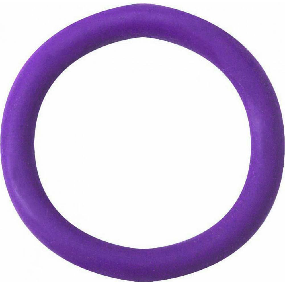 "Spartacus Soft Rubber Cockring 1.25"" Purple - View #2"