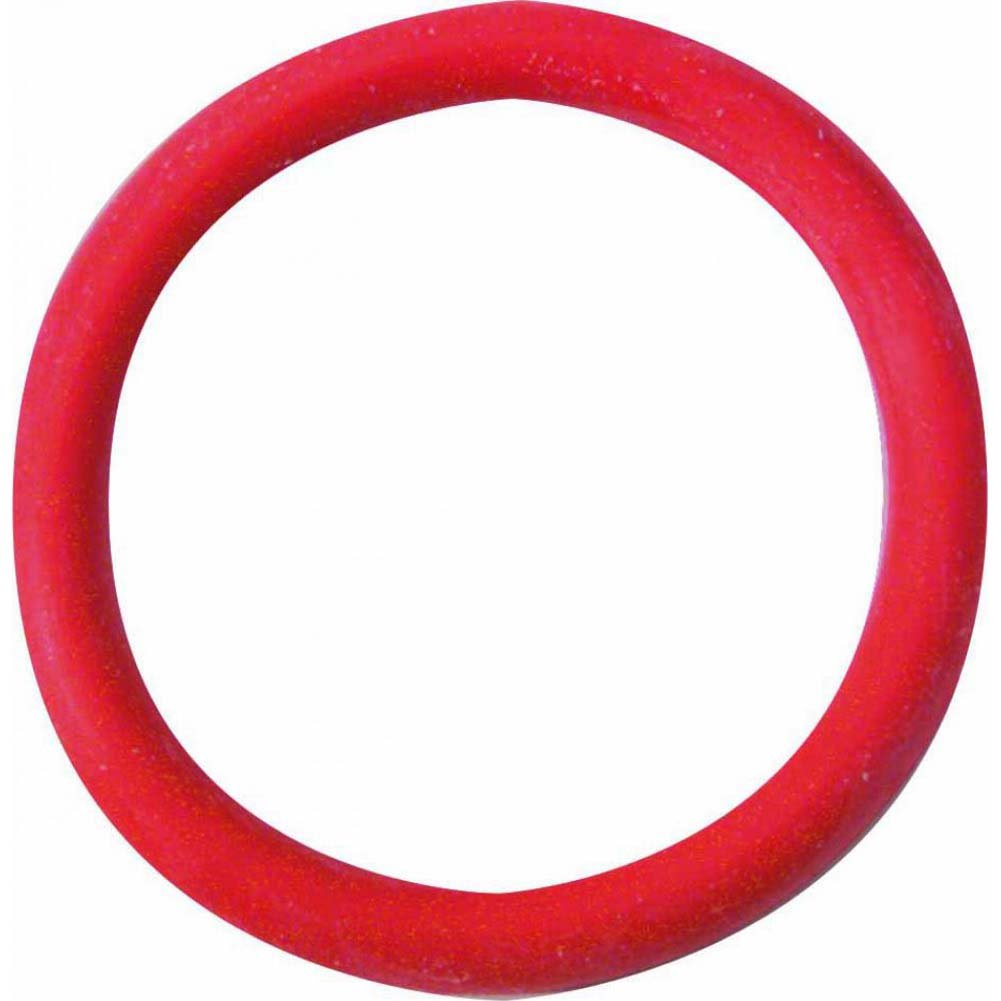 "Spartacus Soft Rubber Cockring 1.5"" Red - View #2"