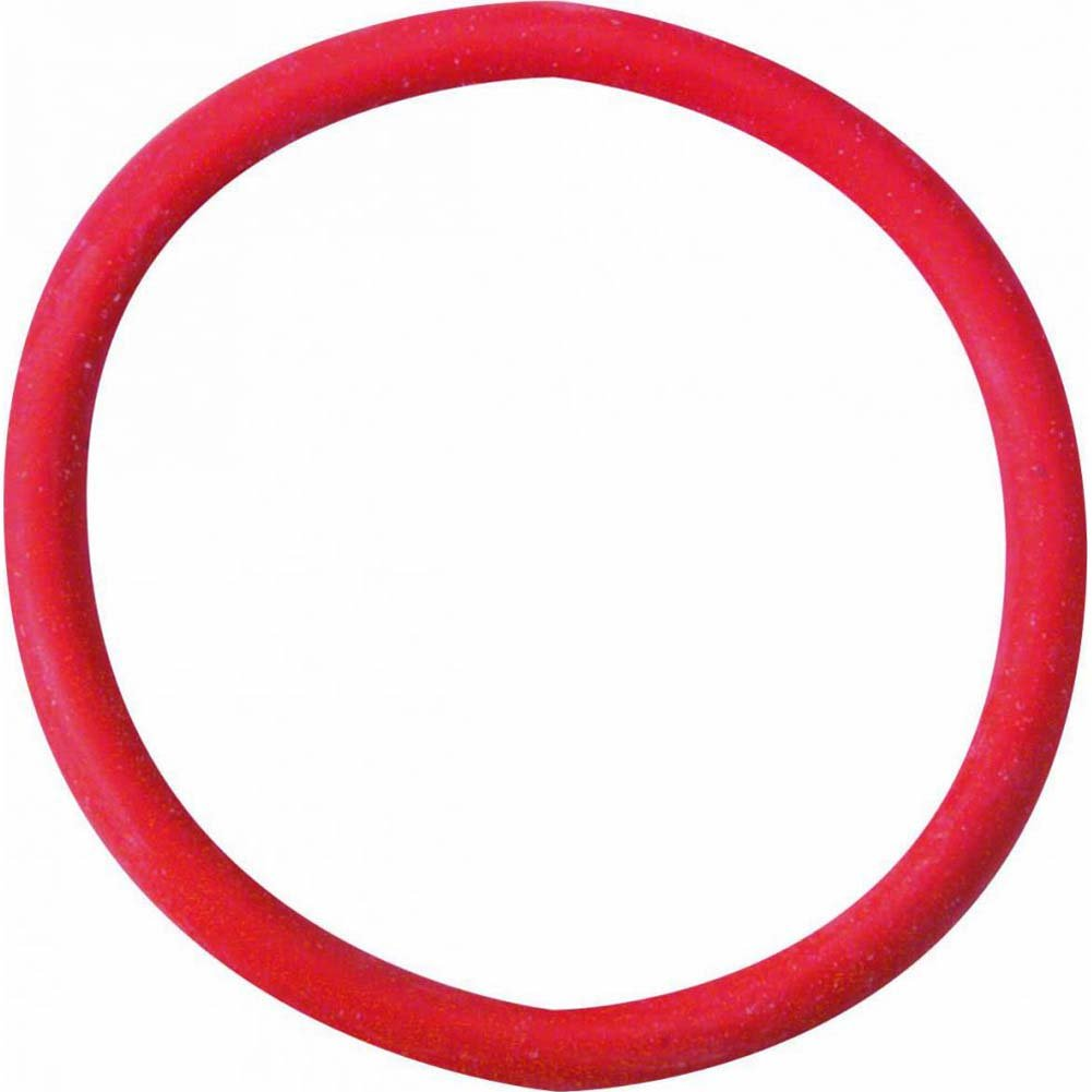 "Spartacus Soft Rubber Cockring 2"" Red - View #2"