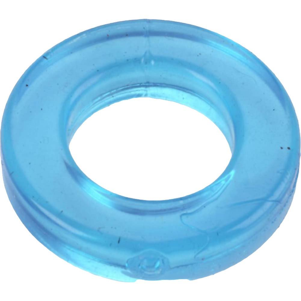 Spartacus Elastomer Cock Ring Blue - View #2