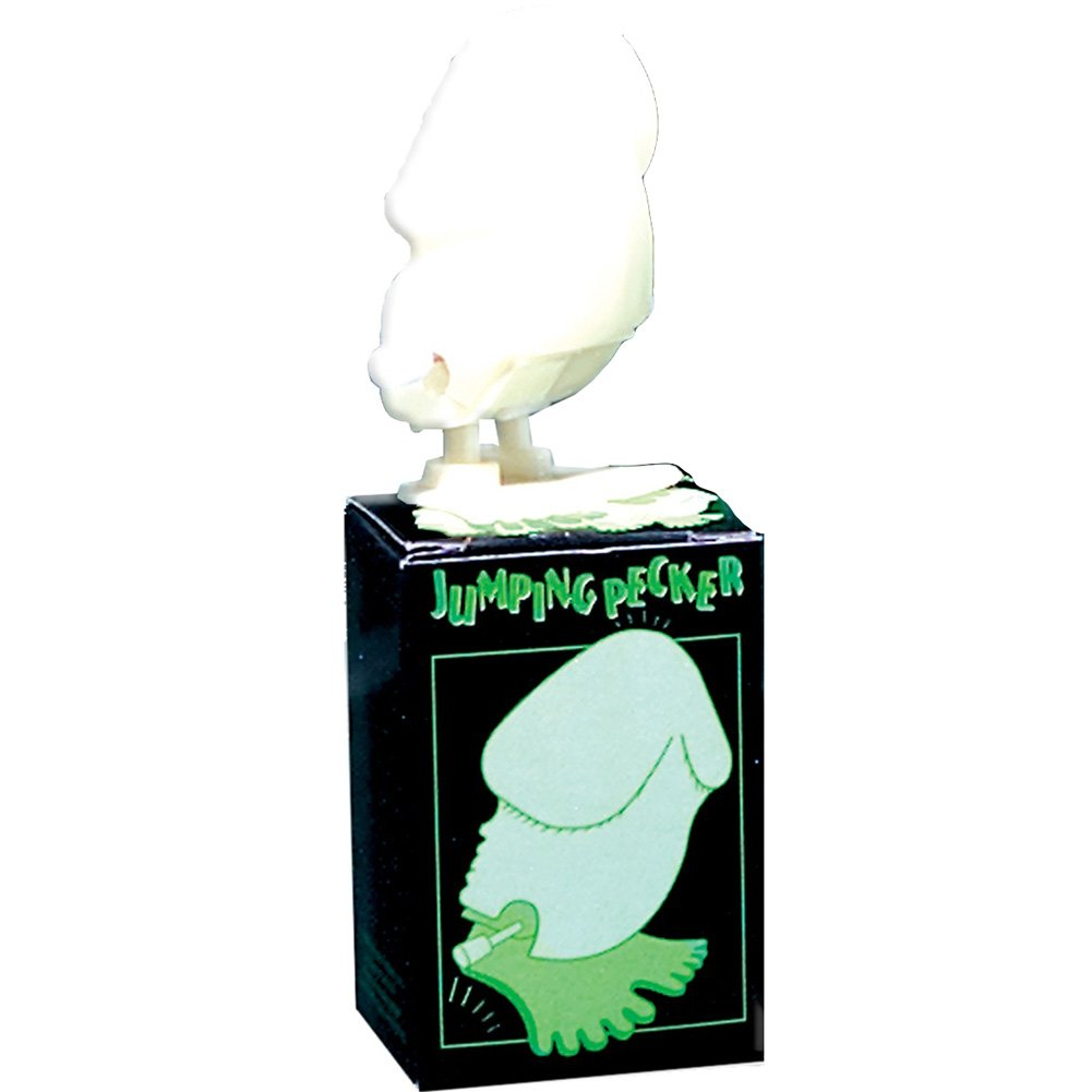 Wind Up Glow-in-the-Dark Jumping Pecker 12 Piece Display - View #1
