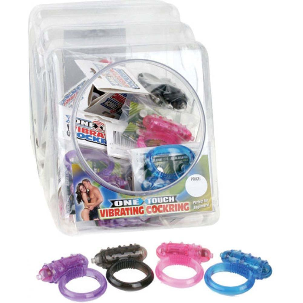 Pipedream Products Mini One-Touch Cock Rings 24 Piece Assorted Color Display Case Fishbowl - View #2