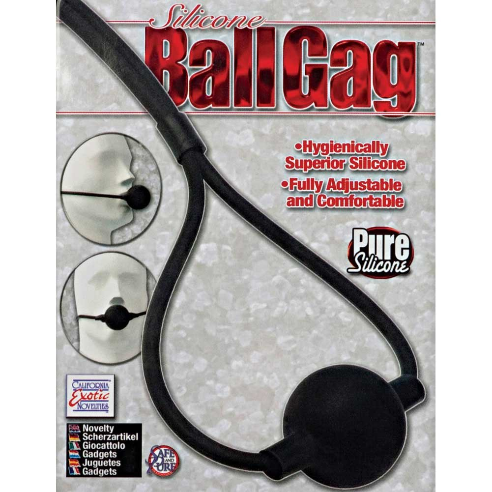 California Exotics Silicone Ball Gag Black - View #3