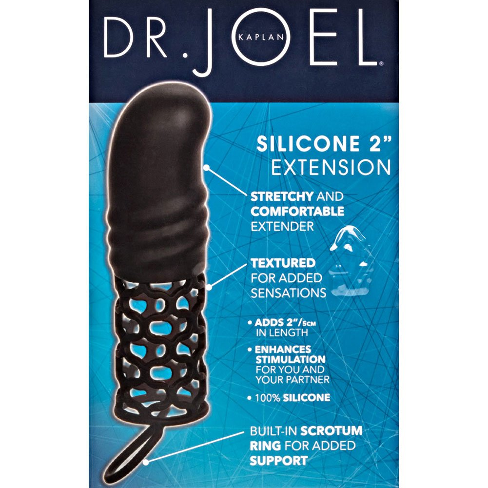 "California Exotics Dr Joel Silicone Extension 2"" Black - View #1"
