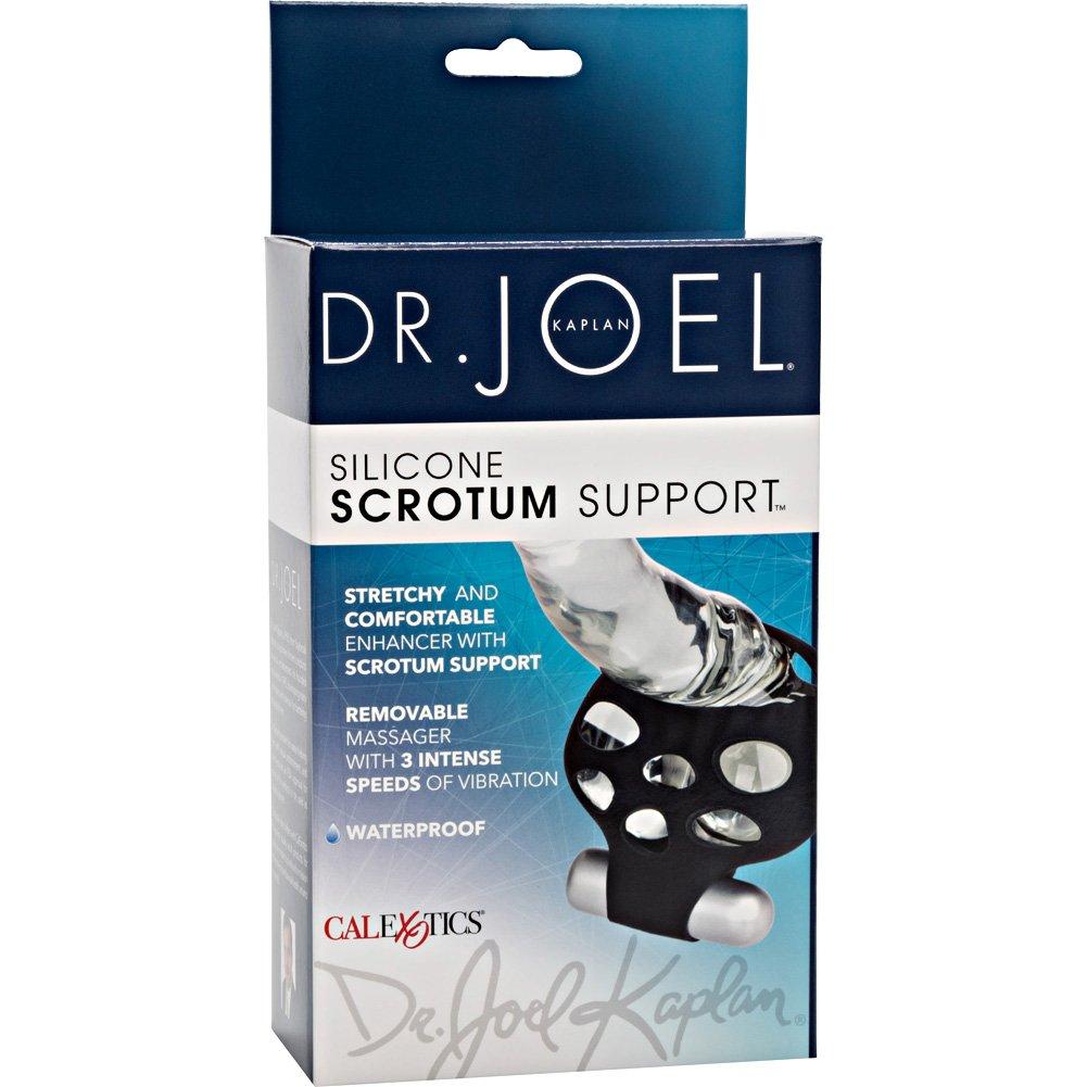 California Exotics Dr Joel Silicone Scrotum Support Black - View #4