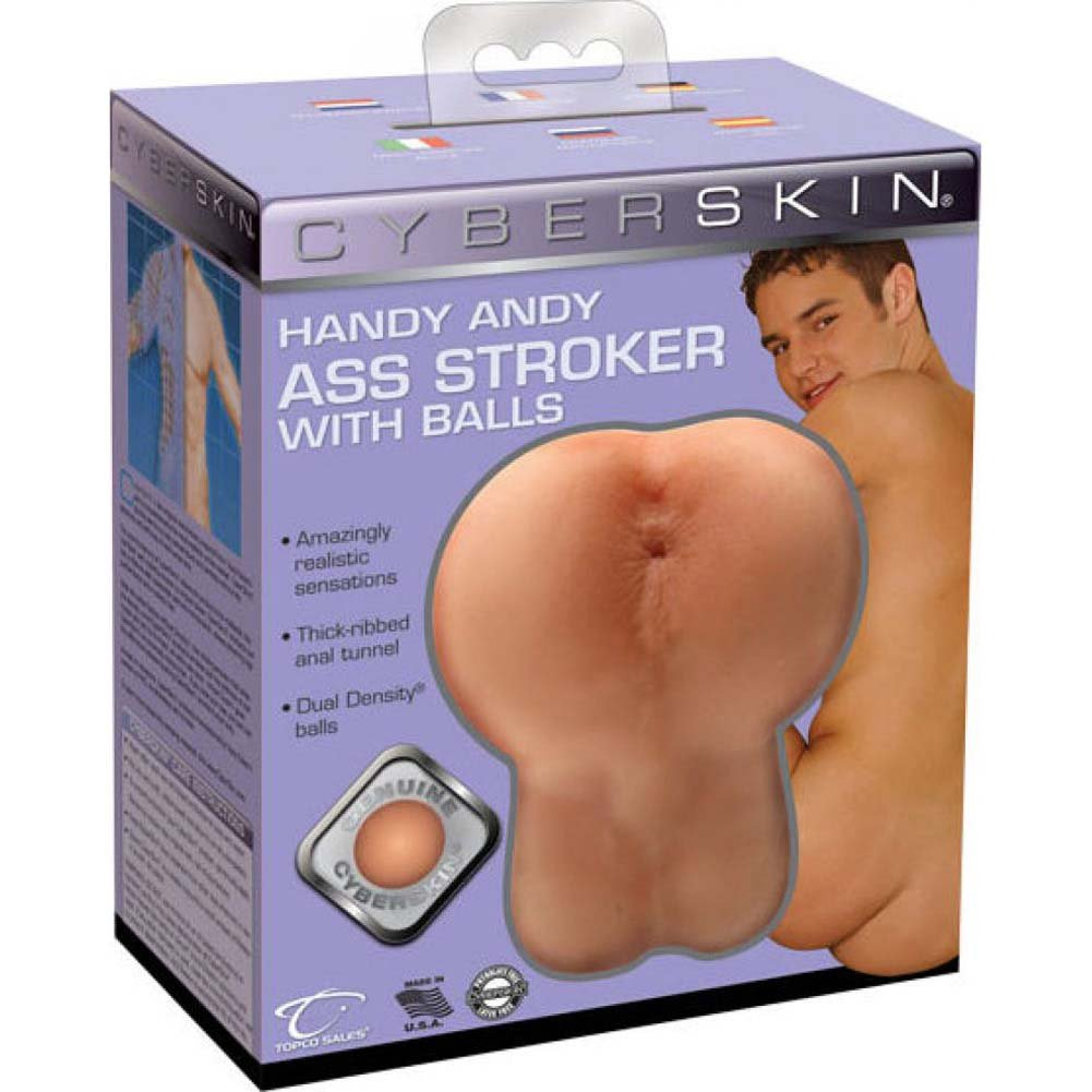 Handy Andy Cyberskin Ass Stroker with Balls Light - View #1