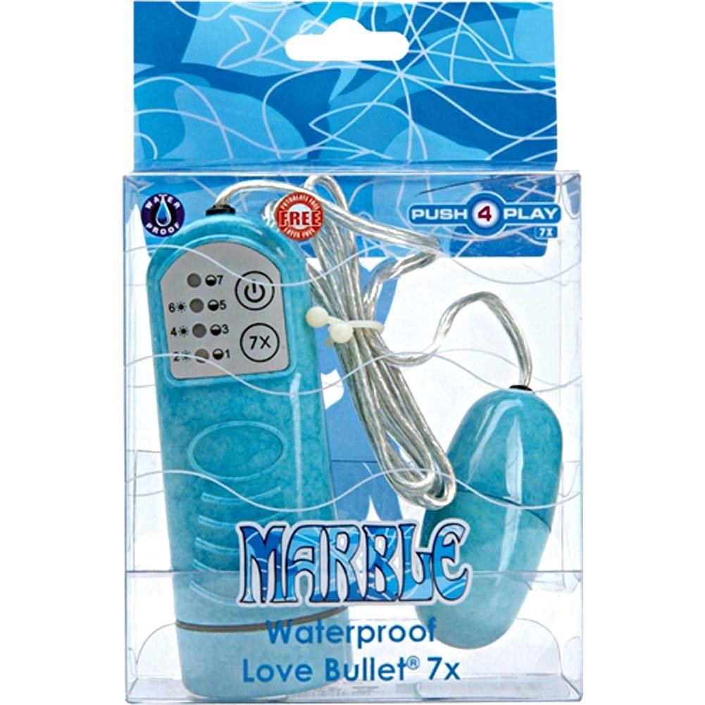 Marble Waterproof Love Bullet 7x Turq Blue - View #1