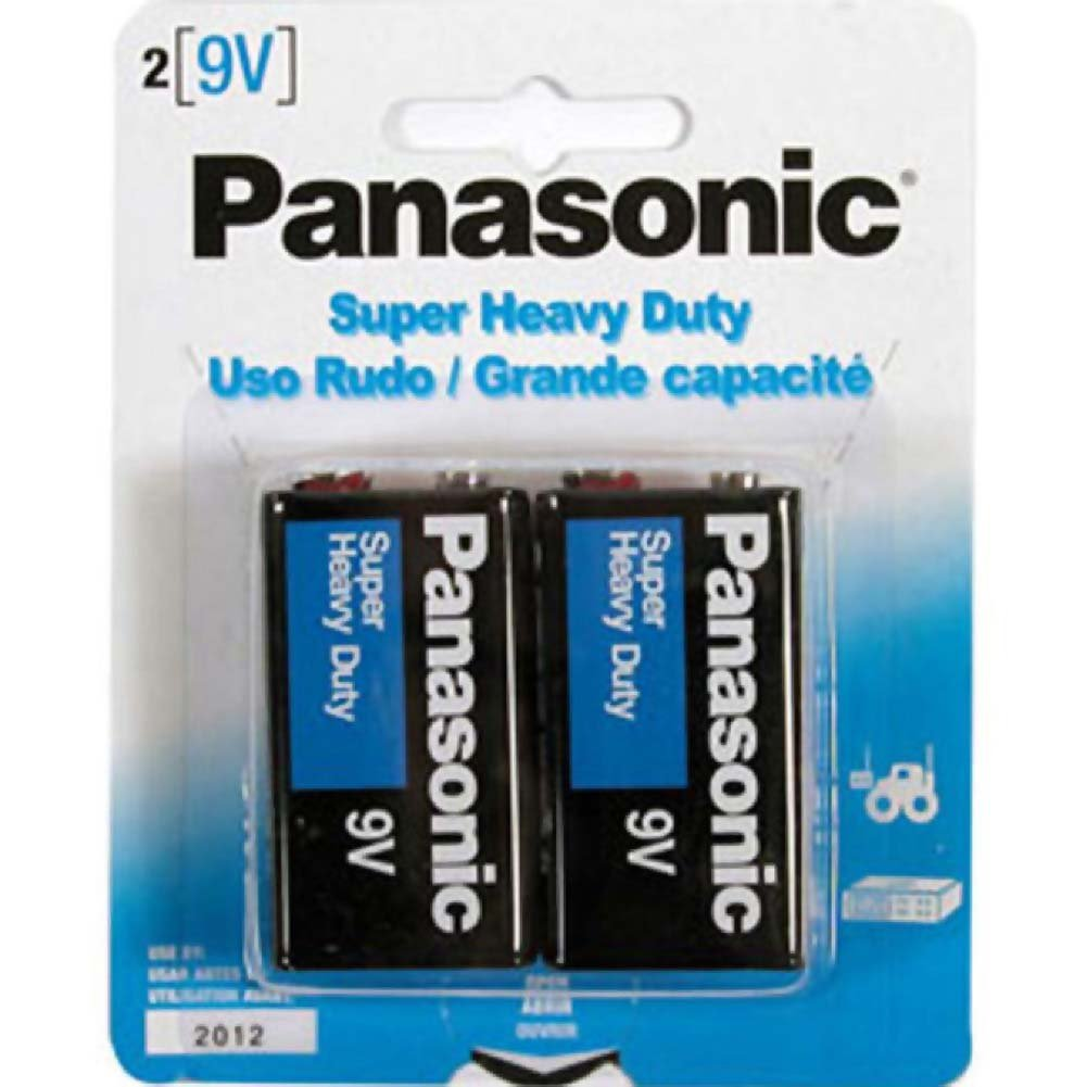 Panasonic Super Heavy Duty 9 Volt Batteries Pack of 2 - View #1