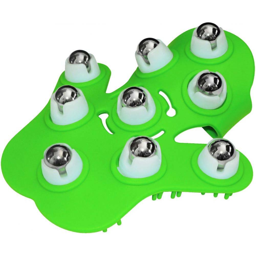 Fuzu Glove Roller Body Massager for Stress Relief Neon Green - View #2