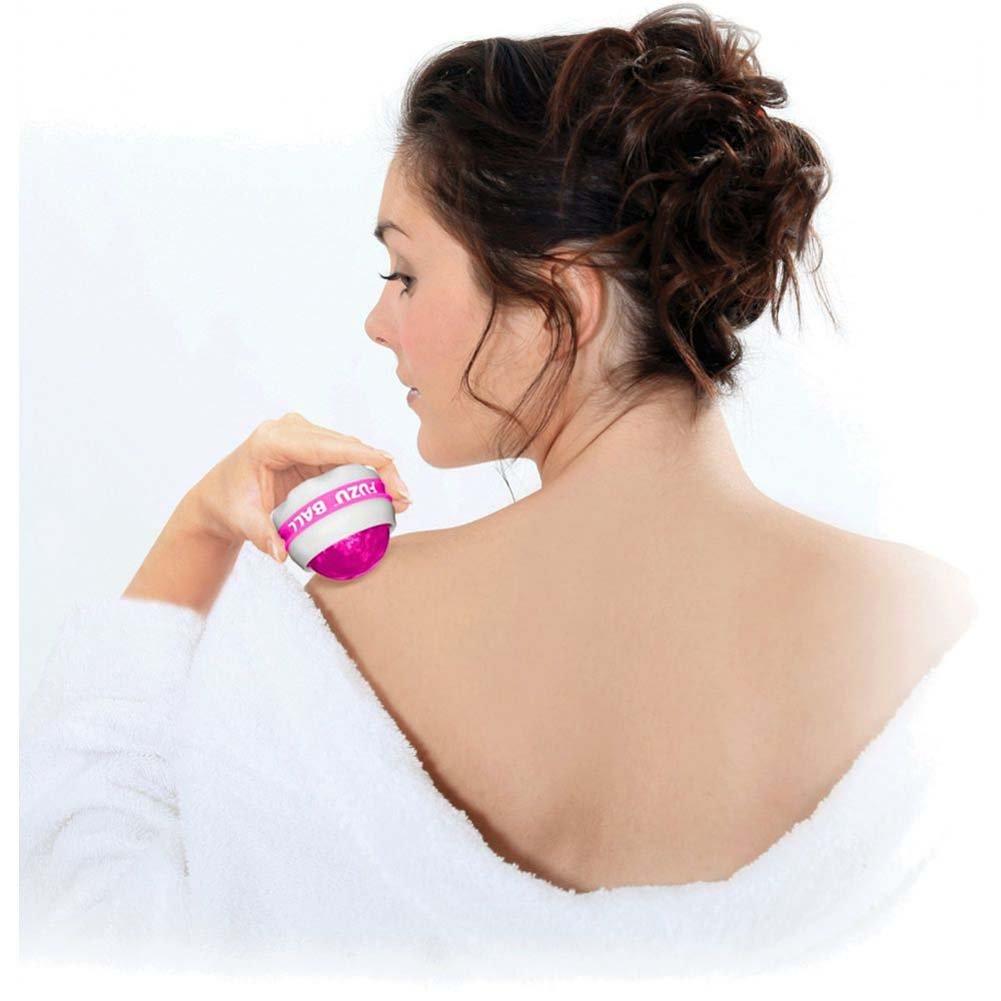 Deeva Toys Tension Relief Fuzu Roller Ball Massager Raspberry - View #1