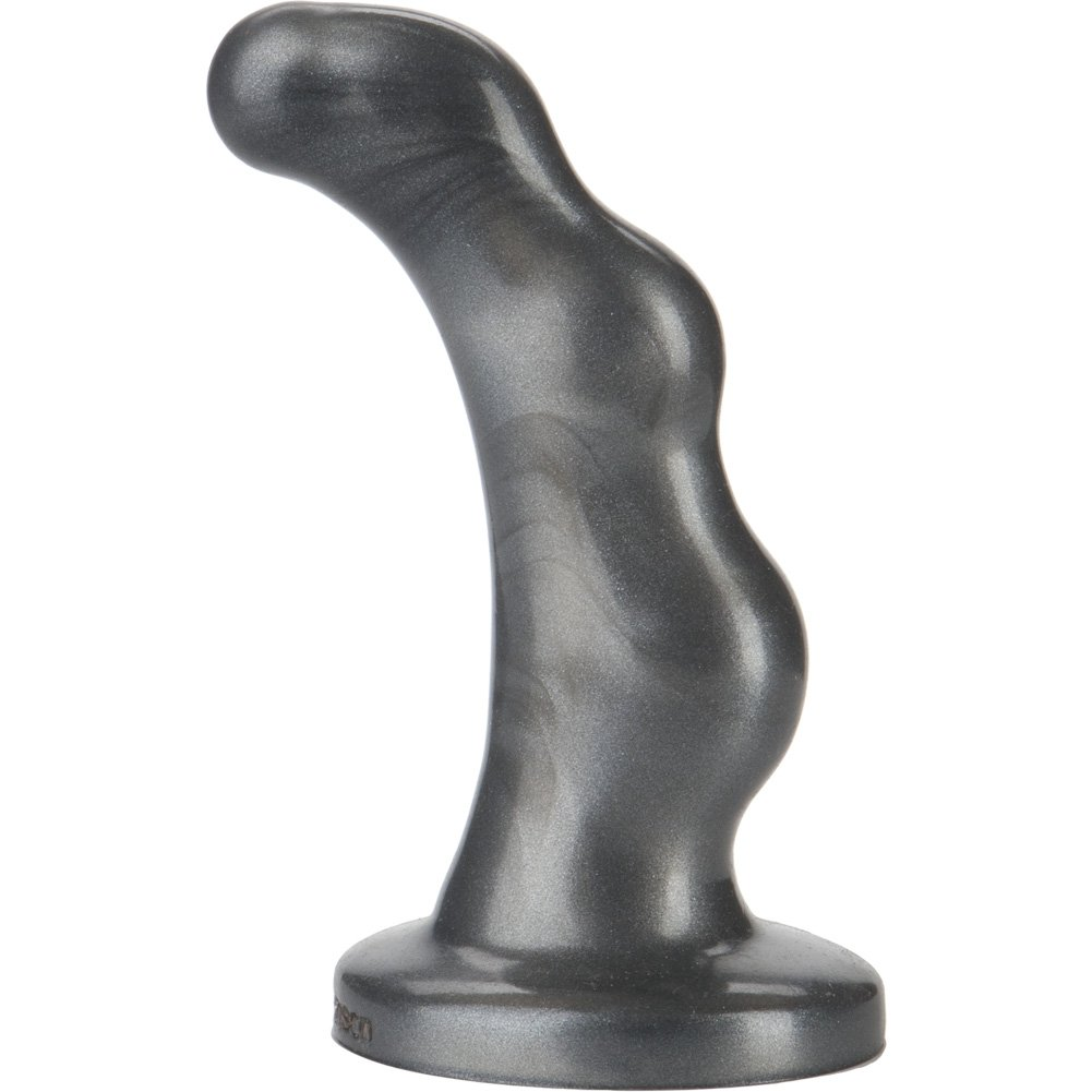 """Doc Johnson Platinum Silicone P-Spot Anal Massager 4.75"""" Charcoal - View #2"""