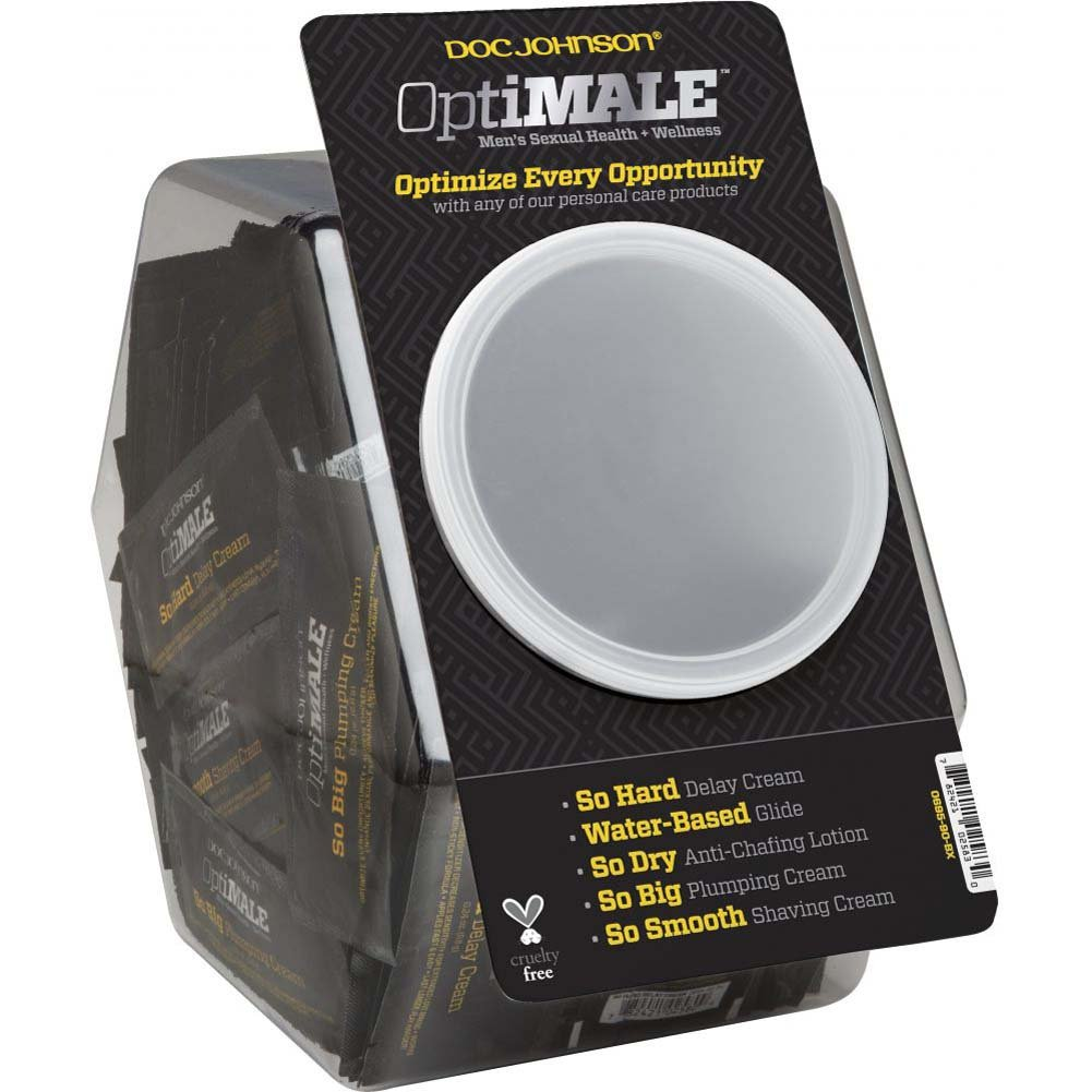 OptiMALE by Doc Johnson Intimate Lube Samples for Men 120 Pieces 0.24 Oz Fishbowl Display - View #2