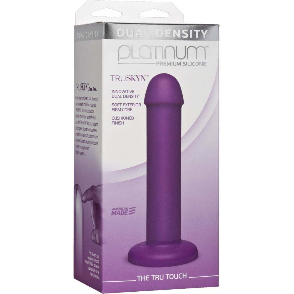 "Doc Johnson Platinum Truskyn the Tru Touch Dildo 7.5"" Purple - View #1"