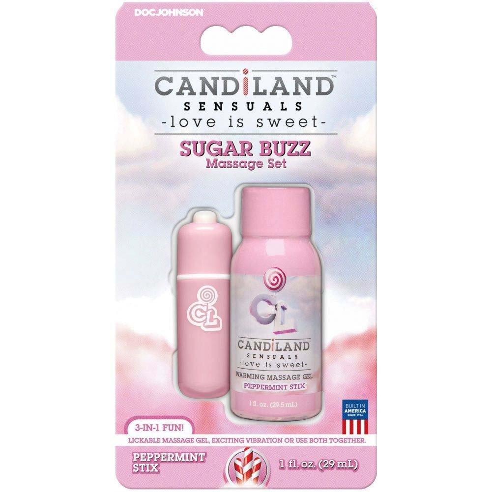 Doc Johnson Candiland Sensuals Sugar Buzz Peppermint Stix Massage Set - View #1