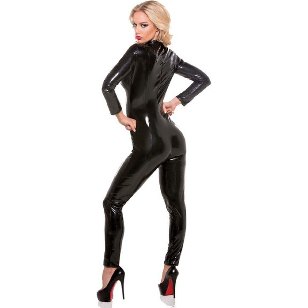 Second Skin Whiplash Catsuit Black Small Medium - View #2