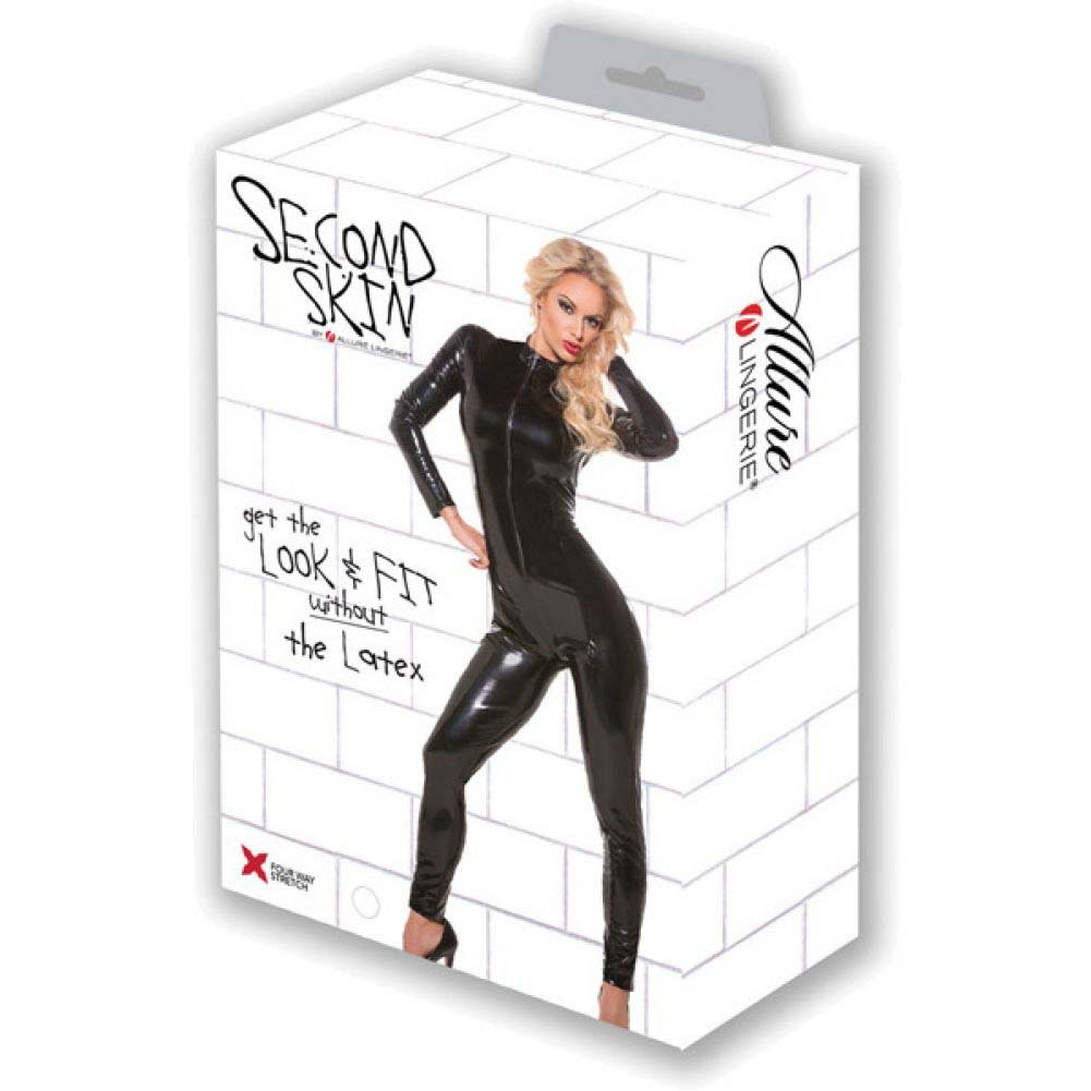 Second Skin Whiplash Catsuit Black Small Medium - View #4